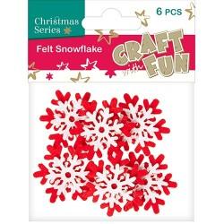 Karácsonyi filc CF hópihe piros-fehér 6 db/csomag
