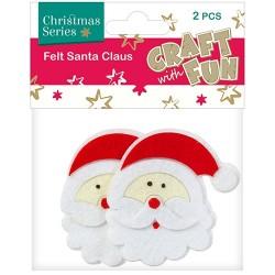 Karácsonyi filc CF Mikulás fej 2 db/csomag