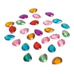 Kreatív CF dekor kristály vízcsepp formájú 100 db/ csomag