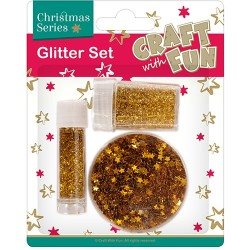 Karácsonyi glitter szett CF arany, ezüst, piros