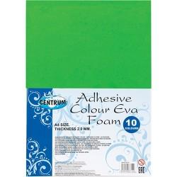Kreatív gumilap Centrum A/4 2mm vastag 10 db/csomag vegyes színek öntapadós