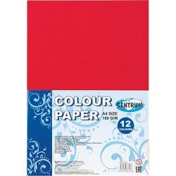 Kreatív színes papír Centrum A/4 12 db/csomag 180 g