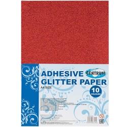 Kreatív színes papír Centrum A/4 glitteres 10 db/csomag vegyes színek