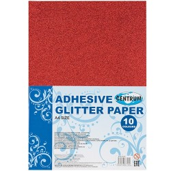 Kreatív színes papír Centrum A/4 öntapadós glitteres 10 db/csomag