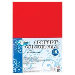 Kreatív filclap A/4 2 mm öntapadós 10 db/csomag vegyes színek