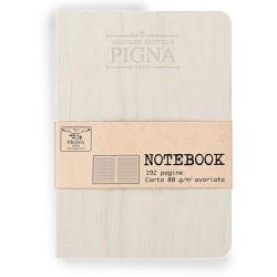 Napló Pigna Vintage 12x17 cm 96 lapos vonalas fehér