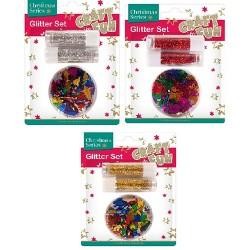 Karácsonyi glitter szett CF színes