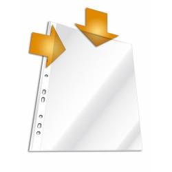 Lefűzhető tasak Durable A/4 50 mic. narancsos felül és belső oldalt nyitott 10 db/csomag