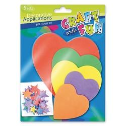 Kreatív CF dekorgumi szívek 5 db/csomag