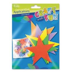 Kreatív CF dekorgumi csillagok 5 db/csomag