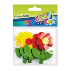 Kreatív CF textil filc virág 4 db/csomag