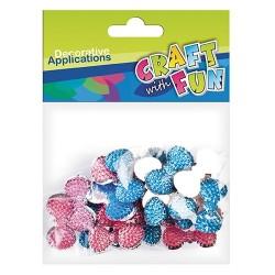 Kreatív CF dekor kristály csokor-nyakkendő forma 30 db/csomag