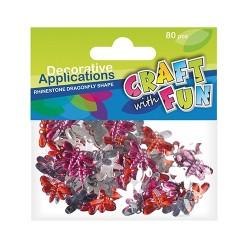 Kreatív CF dekor kristály pillangók 80 db/csomag