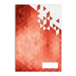 Spirálfüzet pd A/5-80 lapos kockás Geometric