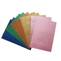 Kreatív pd dekorgumi lapok A/4 2 mm színes glitteres vegyes 10 ív/csomag