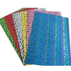 Kreatív pd dekorgumi lapok A/4 2 mm színes mintás vegyes 10 ív/csomag