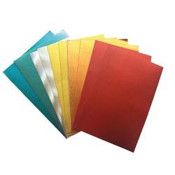 Kreatív pd dekorgumi lapok A/4 2 mm színes metálos vegyes 10 ív/csomag