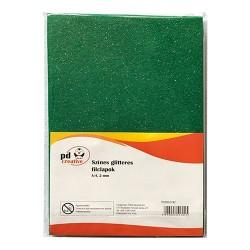 Kreatív pd textil filclapok A/4 2mm glitteres narancssárga 10 ív/csomag