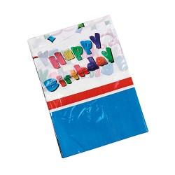 Asztalterítő 130 x 180 cm PE Happy Birthday