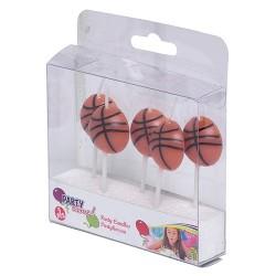 Gyertya 7 cm 5 db / csomag Kosárlabda