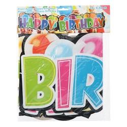 Girland fólia papír 1,35 m Happy Birthday felirat