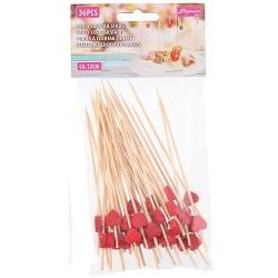 Koktél pálcika bambusz 12 cm-es 36 db/csomag 6 féle szín