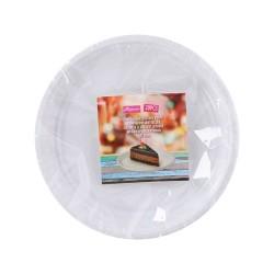 Tányér műanyag 17 cm-es 20 db/csomag fehér