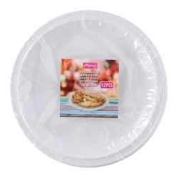 Tányér műanyag 22 cm-es 12 db/csomag fehér