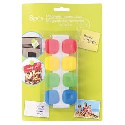 Hűtőmágnes 2,5 x 2,5 cm műanyag klip 8 db/csomag