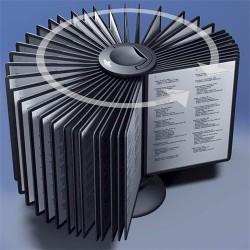Bemutatótábla-tartó asztali Durable Sherpa Carousel 40 panellel fekete