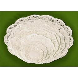 Tortacsipke kerek 26 cm fehér 100 db/csomag