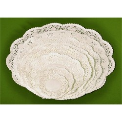 Tortacsipke kerek 32 cm fehér 100 db/csomag
