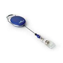 Névkitűző tartó Durable Style, kihúzható, patentos kék