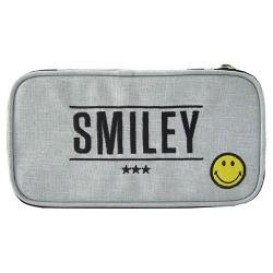 Tolltartó Smiley kompakt szögletes szürke