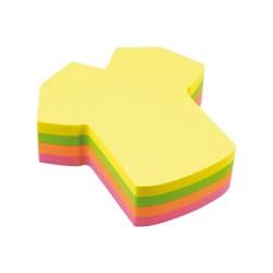 Öntapadós jegyzettömb Info Notes 70x70 mm 200 lapos neon vegyes színek póló