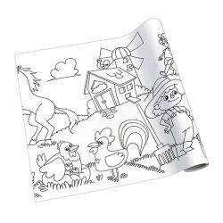 Kreatív öntapadós nyomott papír Info Creative 300 mm x 4 m Farm