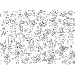 Kreatív öntapadós nyomott papír Info Creative 600 mm x 5 m XL