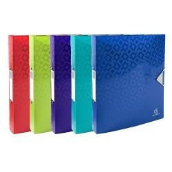 Gyűrűs könyv Exacompta Offix PP A/4 4 gyűrűs 40 mm gerinccel kapcsos pólyás vegyes színek