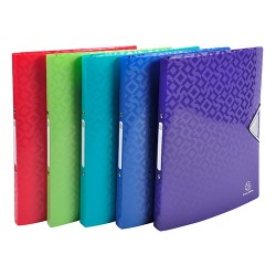 Gyűrűs könyv Exacompta Offix PP A/4 2 gyűrűs 20 mm gerinccel kapcsos pólyás vegyes színek