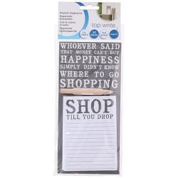 Hűtőmágnes bevásárló lista ceruzával 12x8cm