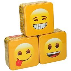 Fémdoboz 15,5x15,5x6,2cm Smilie