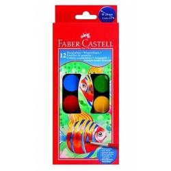 Vízfesték Faber-Castell 24 mm 12 db-os klt.