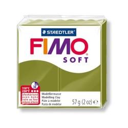 Kreatív kiégethető gyurma Fimo Soft 57g Olívzöld