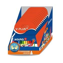 Zsírkréta Y-Plus+ Halma háromszögletű 12 db-os klt. hegyezhető