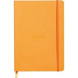 Napló Clairefontaine Rhodiarama A/5 80 lapos vonalas puha fedeles, gumis, narancssárga