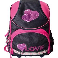 Iskolatáska Play A1 Love anatómiai pink-denim
