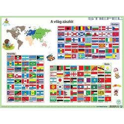 Könyöklő Stiefel 30x40 cm Világ zászlói A3 könyöklő duo