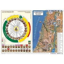 Könyöklő Stiefel 30x40 cm Katolikus egyházi év és Újszövetség térképe / Ószövetség A3 könyöklő duo