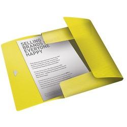 Gumis mappa PP Esselte Colour Ice A4 sárga