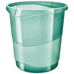 Papirkosár Esselte Colour Ice 14l áttetsző zöld